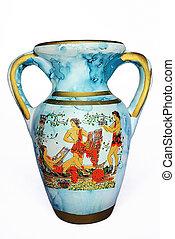Old blue vase
