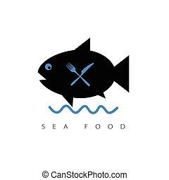 fish cartoon sea food illustration