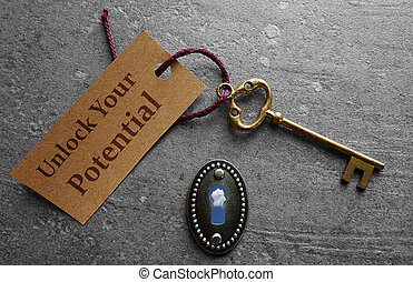 Unlock your potential - Unlock Your Potential message with...