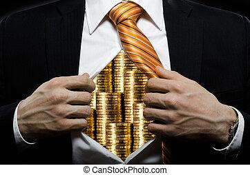 businessman - venality businessman or banker in black...