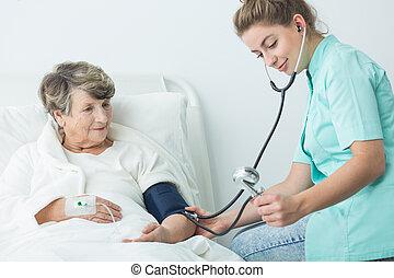 Nurse take care of patient