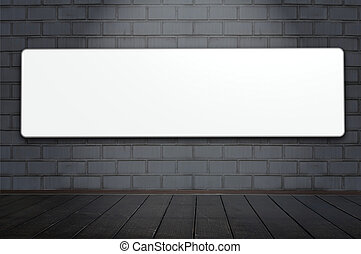 blank billboard - One blank billboard attached to a...