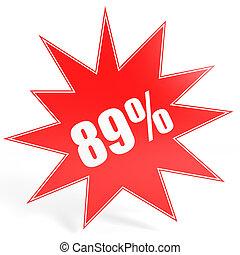 Discount 89 percent off. 3D illustration. - Discount 89...