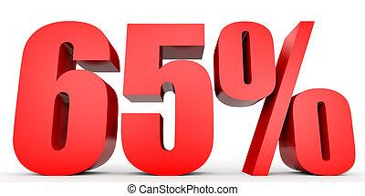 Discount 65 percent off. 3D illustration. - Discount 65...