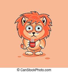 Lion cub nervous