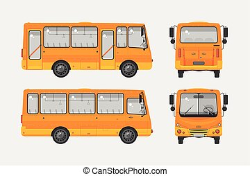 Autobus photo 1 - Set stock vector illustration isolated bus...
