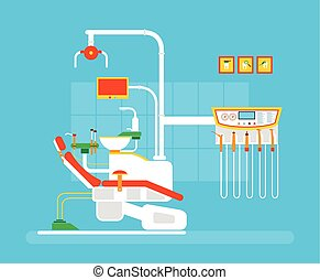 Dantist ROOM 1 - Stock vector illustration set of dental...
