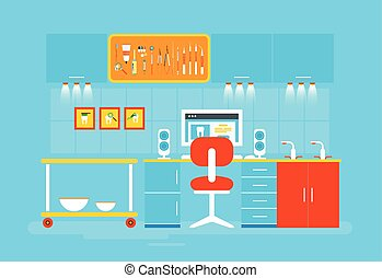 Dental office PC - Stock vector illustration set of dental...