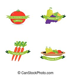 Vegetarian food - Set of different sketches for vegetarian...