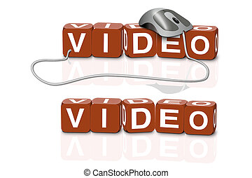 video download - red dices spelling the word video with or...