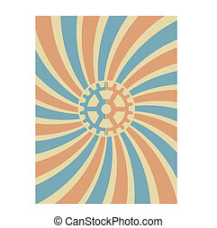 Gear Swirl Red Blue Vector Backgrou