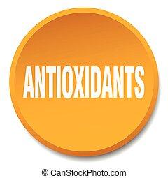 antioxidants orange round flat isolated push button