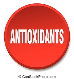 antioxidants red round flat isolated push button