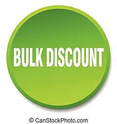 bulk discount green round flat isolated push button