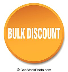 bulk discount orange round flat isolated push button