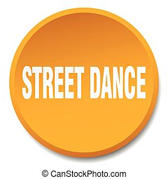 street dance orange round flat isolated push button