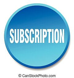 subscription blue round flat isolated push button