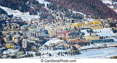 View of St Moritz in winter