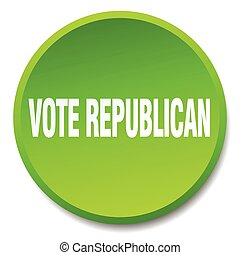 vote republican green round flat isolated push button