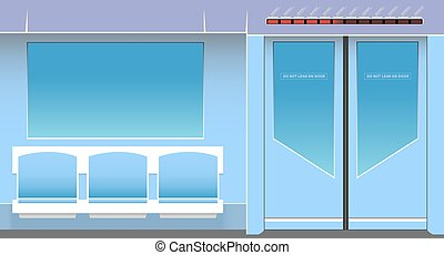 Subway interior Vector illustration EPS 10, opacity