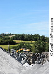Mining for Construction Industry - A rural open cast mine...