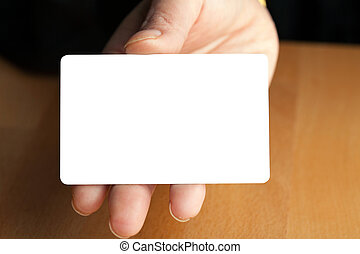 Hand Holding Blank Credit Card
