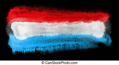 Luxembourg flag illustration