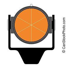 Geodetical prism - Vector illustration of geodetical prism