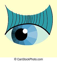 color eye design. Hi-tech concept illustration