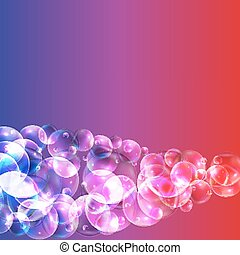 Soap Bubbles Abstract Background Vector Illustration