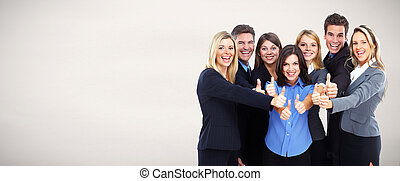 Group of happy business people . - Group of happy business...