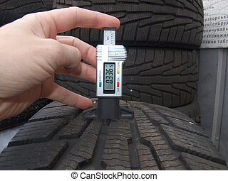 protector - tire for car measurement of the tread wear