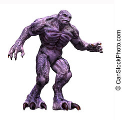 Great Big Purple Monster - A big hulking purple monster - 3d...