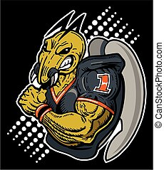 hornet football - muscular hornet football player design for...