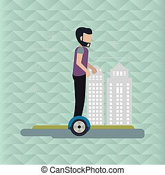 Segway icon design , vector illustration - Segway concept...