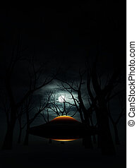 UFO In The Forest