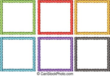 Frame design in six colors illustration