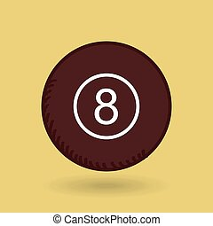 eight ball design - eight ball design, vector illustration...