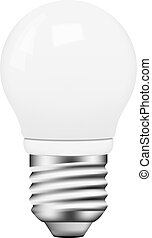 Vector photo-realistic energy saving bulb on white...