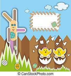 Easter scrapbook elements. illustration.
