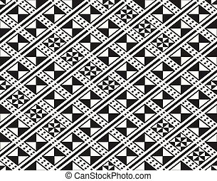 Traditional ancient African fabric textile design, structure of repeating rhombuses - vector seamless pattern