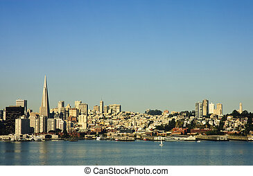 San Francisco cityscape from the Bay