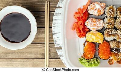 cibo,  sushi, Asiatico