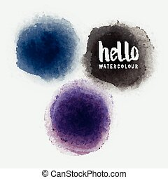 Watercolour Vector CirclesVector watercolour label stains...