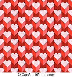 Seamless Heart Pattern. Ideal for Valentine's Day Card or Wrapping Paper.