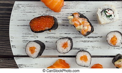 Asian food and sushi - the Asian food and sushi