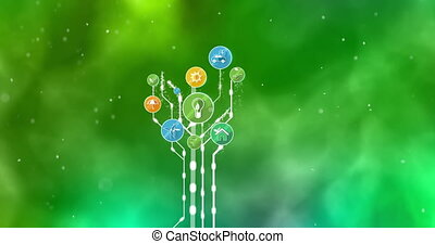 Ecological Icons Tree. Bio Energy. 4K - We present to you a...