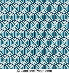 Seamless Abstract Geometric Optical Illusion Pattern