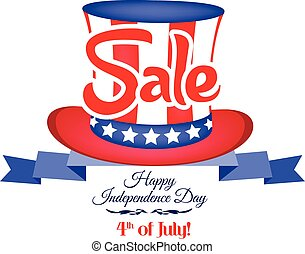 4th of july sale ribbon banner