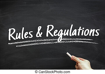 Rules And Regulations - Text Rules And Regulations written...